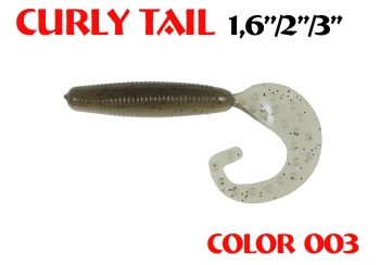 "силиконовая приманка Curly Tail 4""/100mm  цвет 003-N.Gray  запах Fish  8.80g   (уп.-4шт.)"
