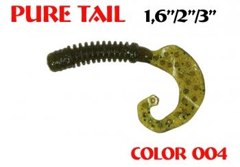 "силиконовая приманка Pure tail 3""/75mm  цвет 004-Champagne  запах Fish  3.71g  (уп.-8шт.)"
