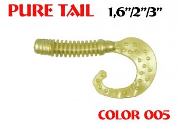 "силиконовая приманка Pure tail 1.6""/40mm  цвет 005-N.Olive  запах Fish  0.57g  (уп.-12шт.)"