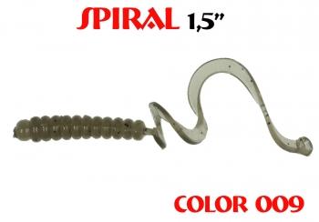 """силиконовая приманка Spiral 1.5""""/25mm  цвет 009-Mustard PP  запах Fish  0.62g  (уп.-10шт.)"""