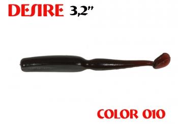 """силиконовая приманка Desire 3.2""""/80mm  цвет 010-Cola  запах Fish  0.92g  (уп.-8шт.)"""