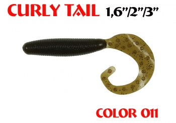 "силиконовая приманка Curly Tail 4""/100mm  цвет 011-Swamp  запах Fish  8.80g   (уп.-4шт.)"