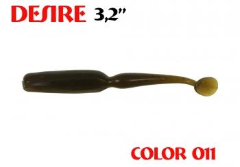 """силиконовая приманка Desire 3.2""""/80mm  цвет 011-Swamp  запах Fish  0.92g  (уп.-8шт.)"""