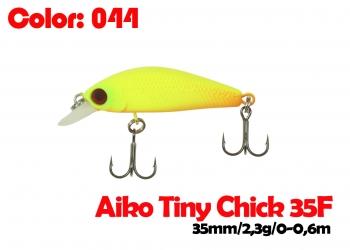 воблер TINY CHICK 35F   044-цвет  35mm  2.3g  заглубление 0-0.6m  плавающий