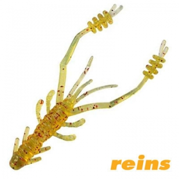 Силиконовая приманка Reins Ring Shrimp цвет 430 Motor Oil Gold FLK