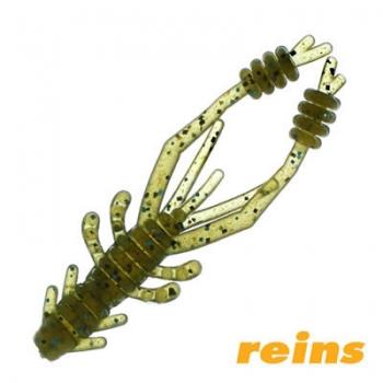 Силиконовая приманка Reins Ring Shrimp цвет 005 Green Pumpkin Blue