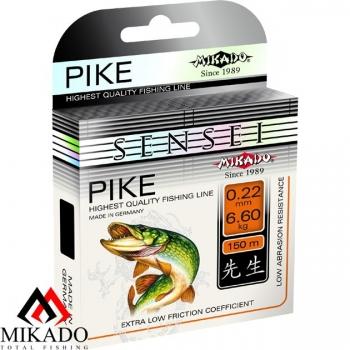 Леска Mikado Sensei Pike (Микадо пайк) размотка 150 метров, цвет прозрачный