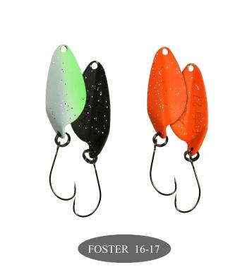 микроколебло  Foster  2.7g  цвет 16+17  с безбородым крючком  (уп. 2шт.)