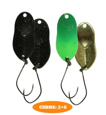 микроколебло  Gibbs  2,6 гр.  цвет  2+6  с безбородым крючком  (уп. 2шт.)