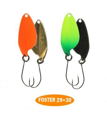 микроколебло  Foster  2.7g  цвет 29+30  с безбородым крючком  (уп. 2шт.)