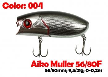 воблер MULLER  80F   004-цвет  80 мм.  21 гр.  заглубление 0-0.1m  плавающий