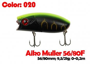 воблер MULLER  80F   020-цвет  80 мм.  21 гр.  заглубление 0-0.1m  плавающий