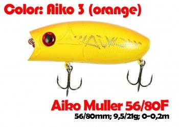 воблер MULLER  80F   AIKOoran гр.e-цвет  80 мм.  21 гр.  заглубление 0-0.1m  плавающий