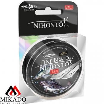 Плетеные шнуры Mikado Nihonto размотка 100 метров цвет черный