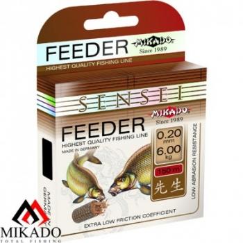 Леска Mikado Sensei Feeder (Микадо сенсей фидер) размотка 150 метров, цвет темно коричневый