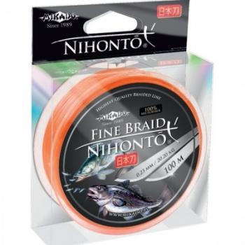 Плетеные шнуры Mikado Nihonto размотка 100 метров цвет оранжевый