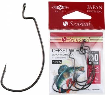 Крючки Mikado SENSUAL -OFFSET WORM II (офсет ворм 2)