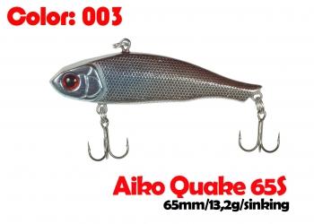 воблер QUAKE 65S   003-цвет  65mm  13.2g  тонущий