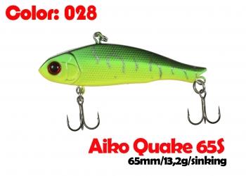 воблер QUAKE 65S   028-цвет  65mm  13.2g  тонущий