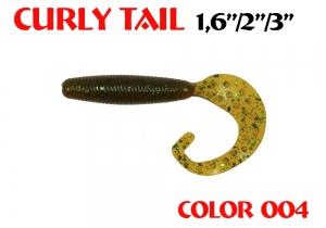 "силиконовая приманка Curly Tail 2""/50mm  цвет 004-Champagne  запах Fish  1.20g   (уп.-10шт.)"