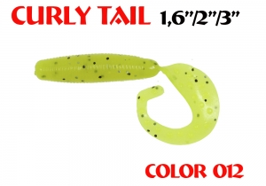 "силиконовая приманка Curly Tail 2""/50mm  цвет 012-Acid  запах Fish  1.20g   (уп.-10шт.)"