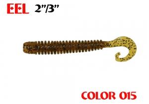 """силиконовая приманка Eel 3""""/75mm  цвет 015-Motor Oil  запах Fish  2.20g  (уп.-8шт.)"""