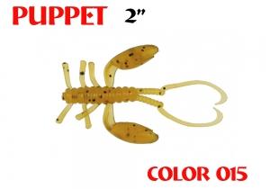 """силиконовая приманка Puppet 2""""/50mm  цвет 015-Motor Oil  запах Fish  1.12g  (уп.-8шт.)"""