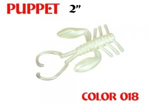 "силиконовая приманка Puppet 2""/50mm  цвет 018-Milk White  запах Fish  1.12g  (уп.-8шт.)"