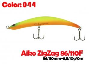 воблер ZIGZAG  86F   044-цвет  86mm  6.5g  заглубление 0.2-0.5m  плавающий