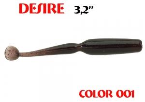 "силиконовая приманка Desire 3.2""/80mm  цвет 001-Dark Blood  запах Fish  0.92g  (уп.-8шт.)"