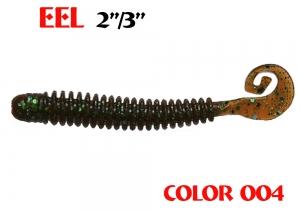 "силиконовая приманка Eel 3""/75mm  цвет 004-Champagne  запах Fish  2.20g  (уп.-8шт.)"