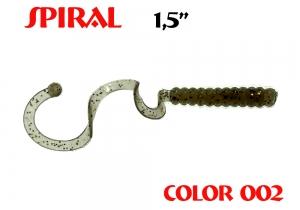 "силиконовая приманка Spiral 1.5""/25mm  цвет 002-N.Bright  запах Fish  0.62g  (уп.-10шт.)"