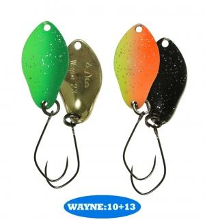 микроколебло  Wayne  2.3g  цвет 10+13  с безбородым крючком  (уп. 2шт.)