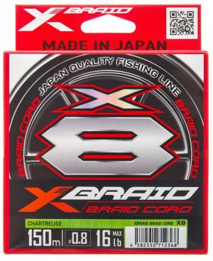 X-braid Braid Cord X8 шартрез 150 м