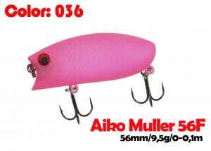 воблер MULLER  56F   036-цвет  56 мм.  9.5 гр.  заглубление 0-0.1m  плавающий