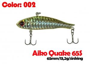 воблер QUAKE 65S   002-цвет  65mm  13.2g  тонущий