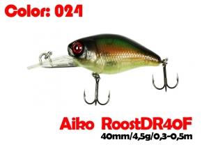 воблер ROOST crank DR 40F   024-цвет  40 мм.  4.5 гр.  заглубление 0.3-0.5m  плавающий