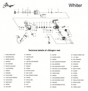 катушка Stinger Whiter